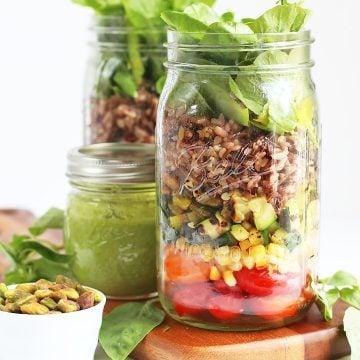 Wild Rice Mason Jar Salads
