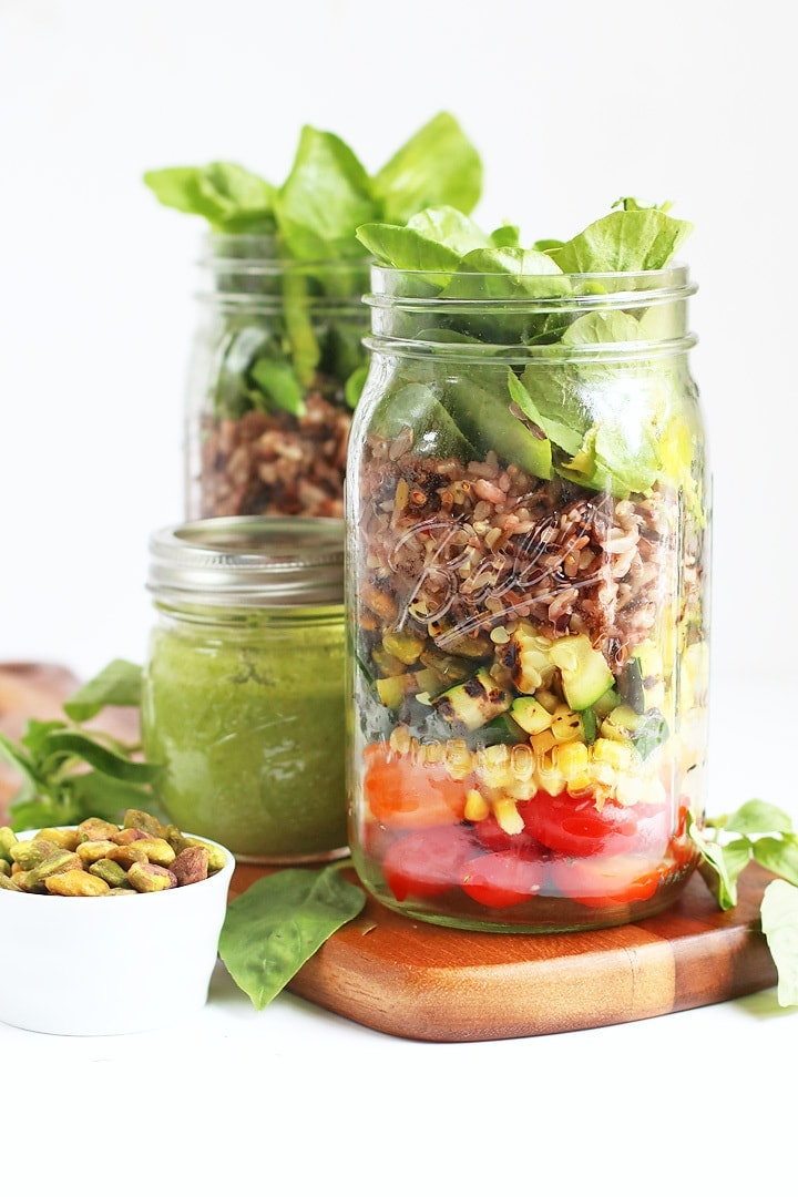 Two Mason Jar Salads