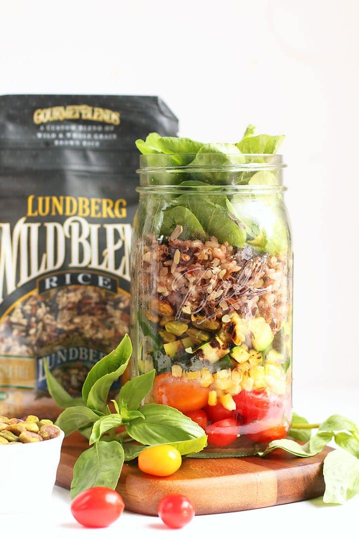 Mason Jar Salad with Wild Rice Blend