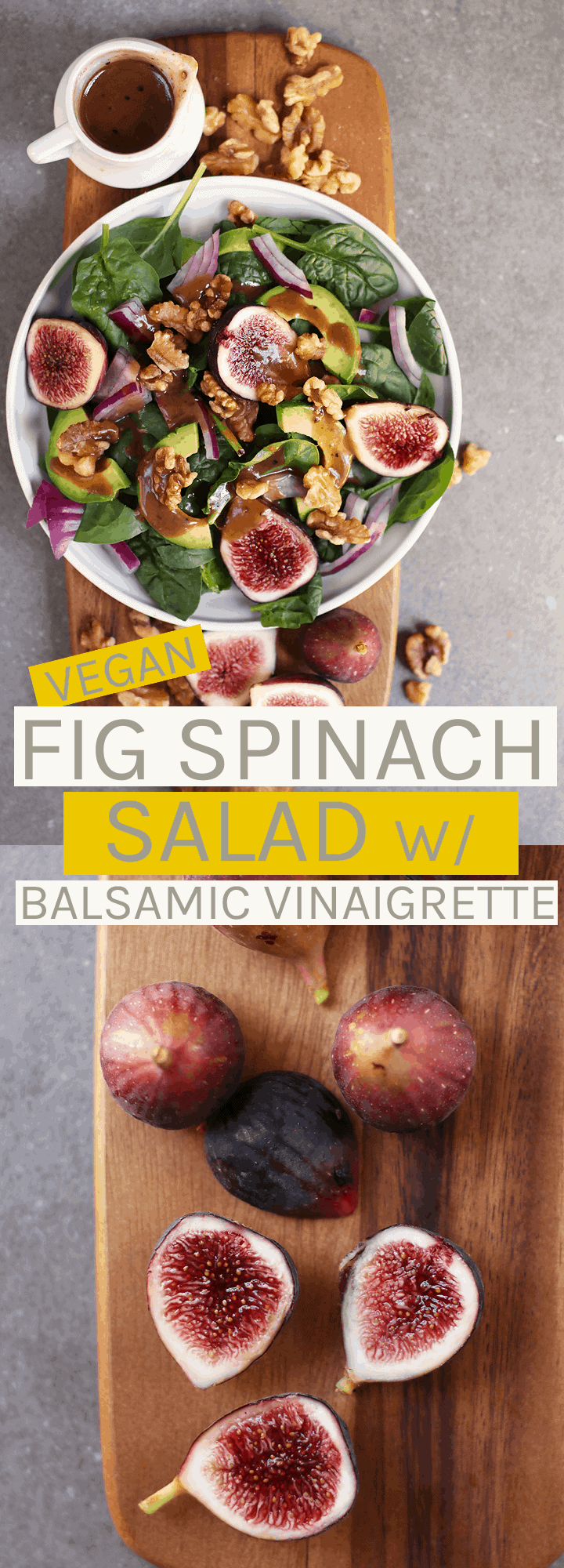 Celebrate the season with this Fig Spinach Salad with Avocado and Balsamic Vinaigrette