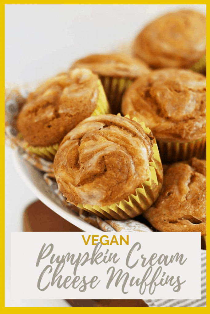 Fall into fall with these deliciously light and perfectly flavored vegan pumpkin muffins with Cream Cheese Swirl. An easy, fail-proof, autumnal pastry that will warm up your home and fill up your belly. Made in just 30 minutes!
