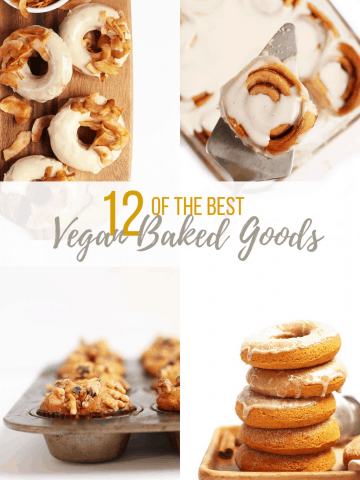 A round-up of the best autumnal vegan pastry recipes. With everything from doughnuts to muffins to cinnamon rolls, there is a vegan baked good for everyone.