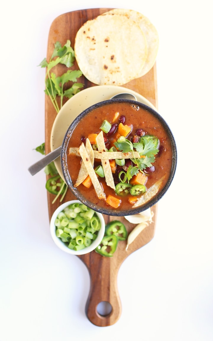 Maple Bourbon Sweet Potato Chili