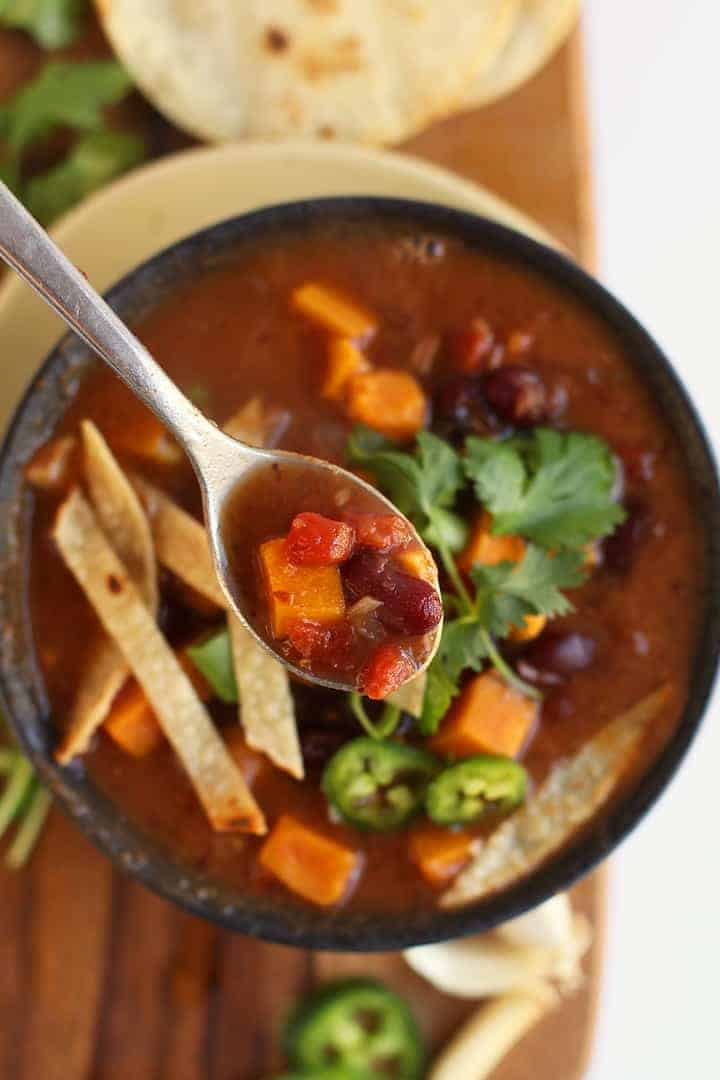 Overhead Instant Pot Chili