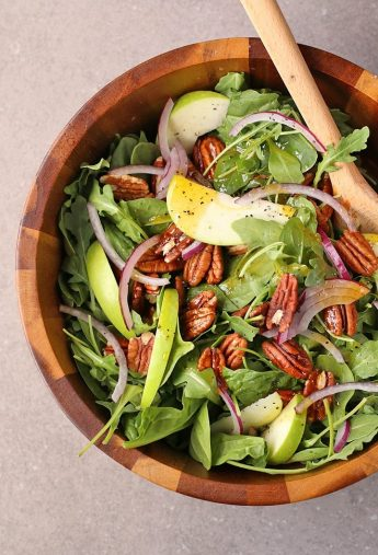 Apple Spinach Salad with Curry Vinaigrette