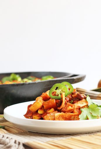 Vegan Skillet Enchiladas
