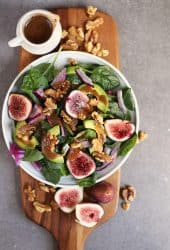 Spinach Fig Salad with Balsamic Vinaigrette