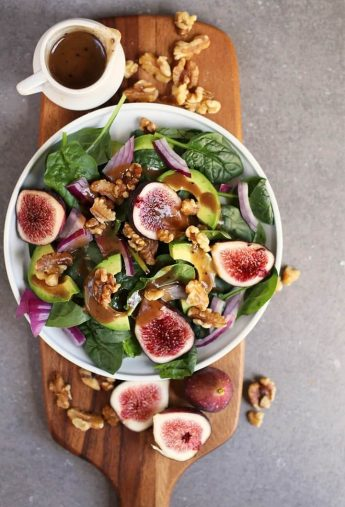 Fig Spinach Salad with Balsamic Vinaigrette