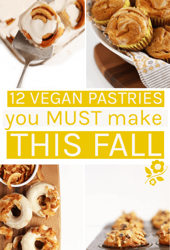 12 Vegan Pastries you must make this fall