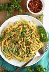 White Wine Pasta with Peas