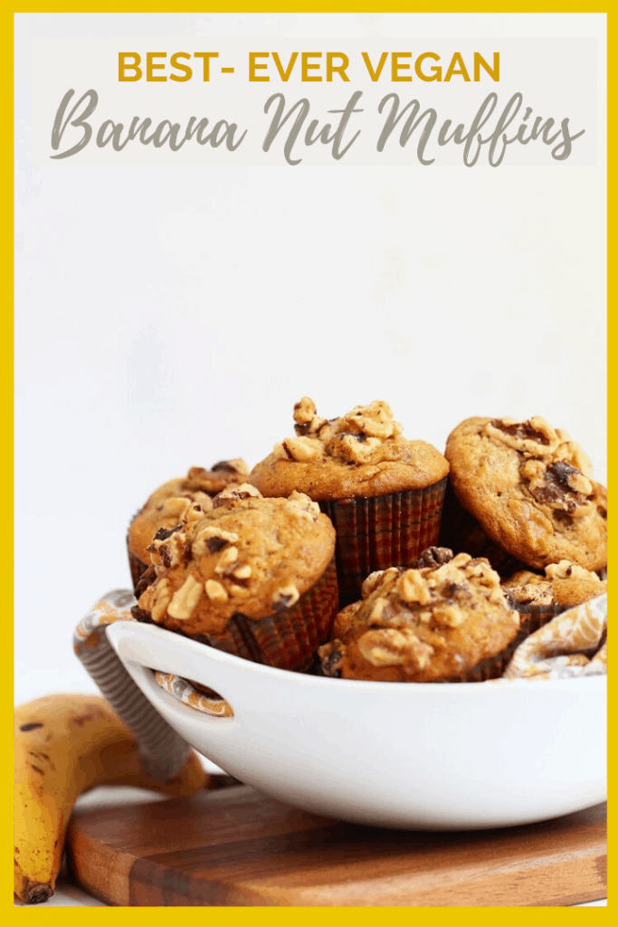 Start your morning off right with these deliciously spiced, walnut filled, and perfectly flavored vegan Banana Nut Muffins. Get your house smelling heavenly in just 30 minutes.