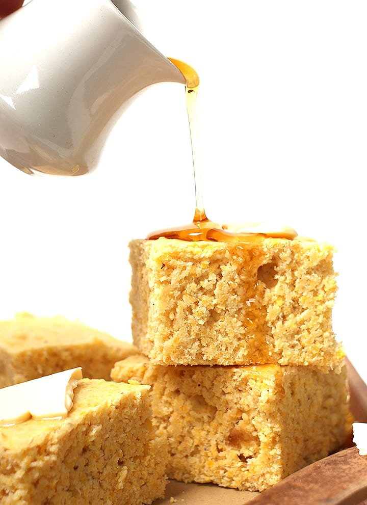 Vegan cornbread with agave nectar