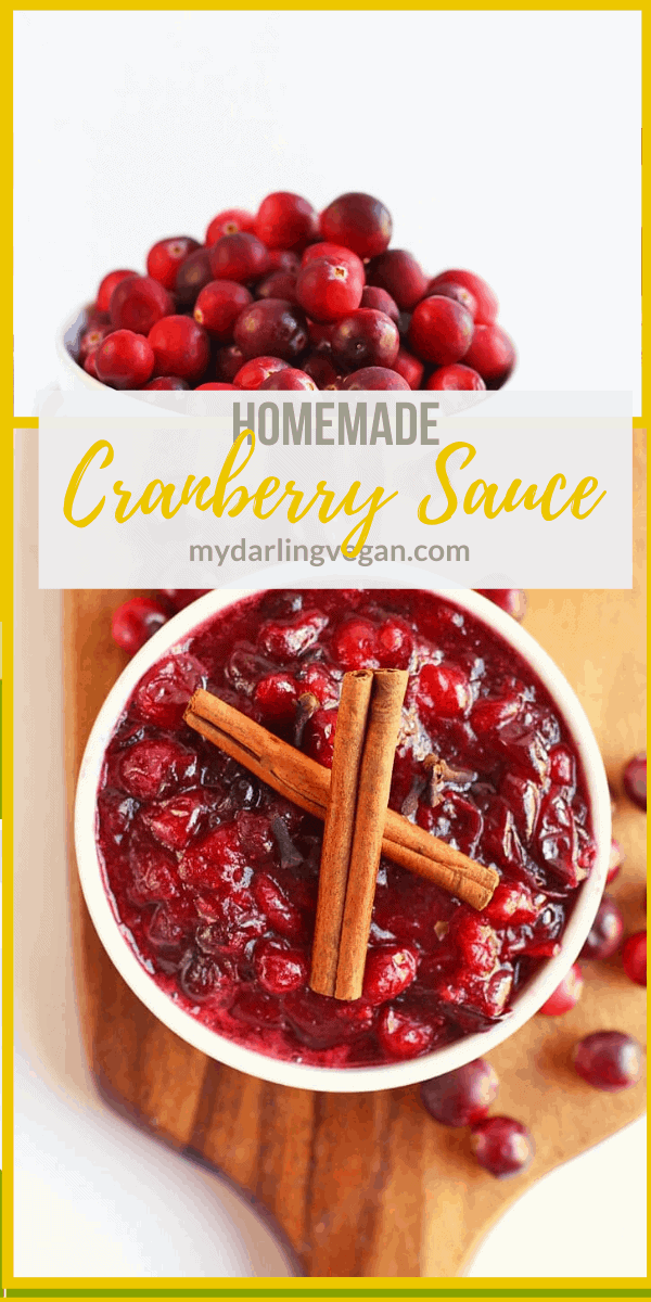 Make your holidays brighter with this Cinnamon Orange Cranberry Sauce made with fresh orange juice and whole spices for a delightful Thanksgiving dish.