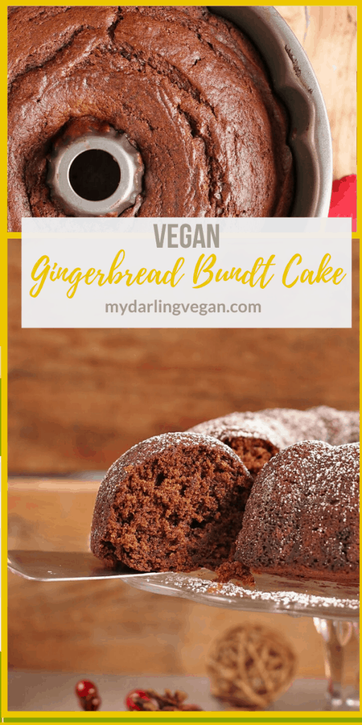 This Vegan Gingerbread Cake is the perfect dessert for your holiday. It's a sweet and spicy cake filled with flavor and dusted with powdered sugar. Serve it at your next holiday party.