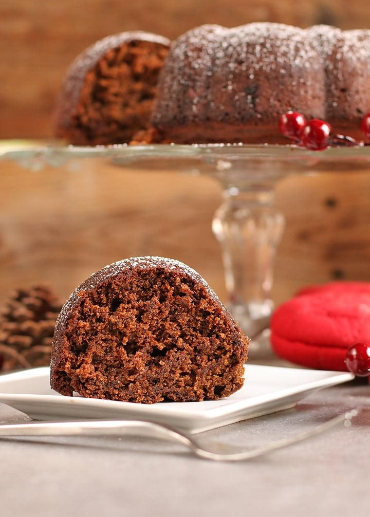 Slice of Vegan Gingerbread Cake