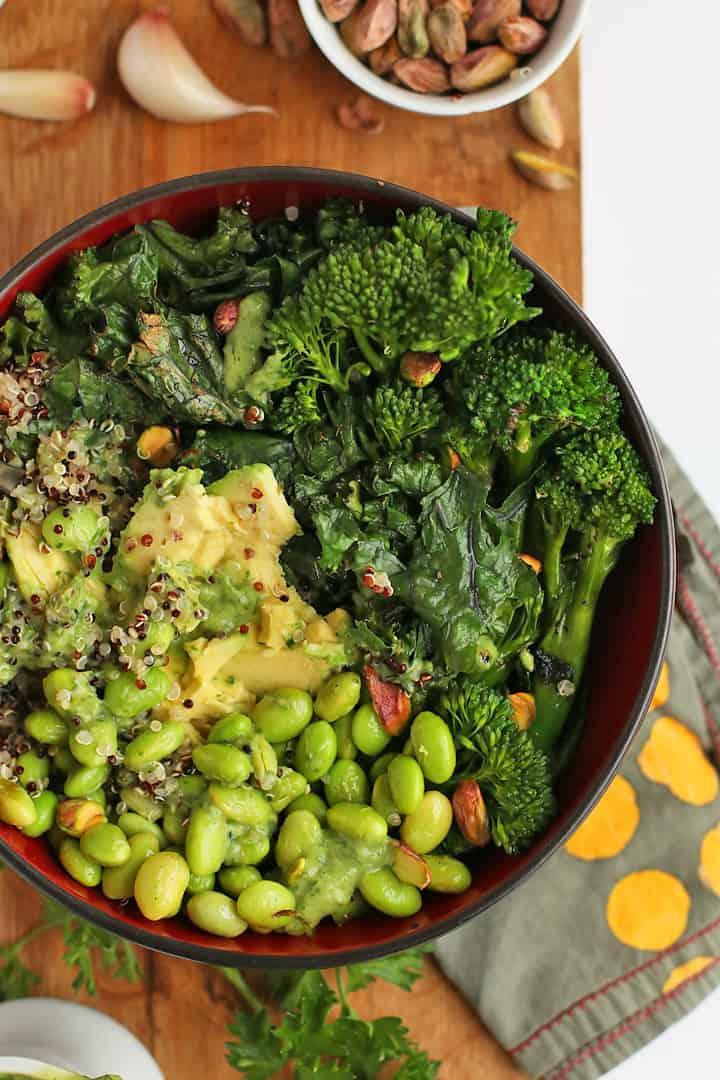 Green Goddess Bowl mixed together