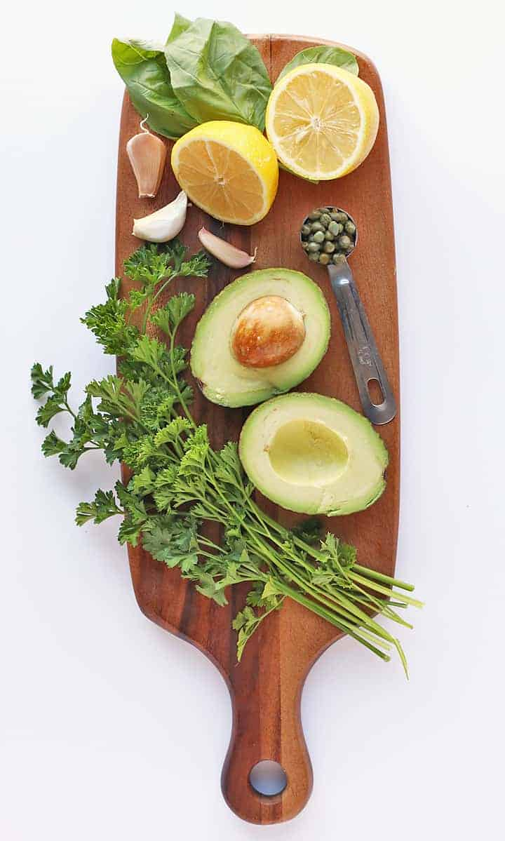 Ingredients for Vegan Green Goddess Dressing