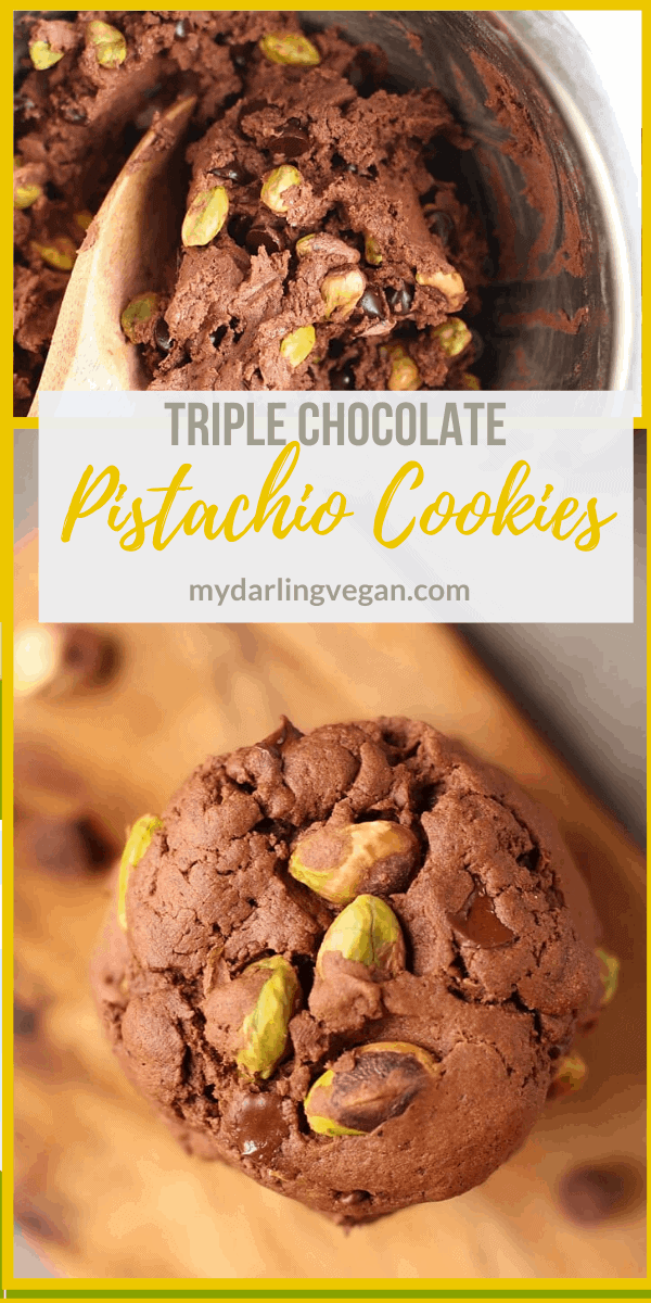 Enjoy all the decadence with these Triple Chocolate Pistachio Cookies without compromising on health. These cookies are made with Orgain Creamy Chocolate Fudge Protein Powder for a protein-packed, better-for-you holiday treat.