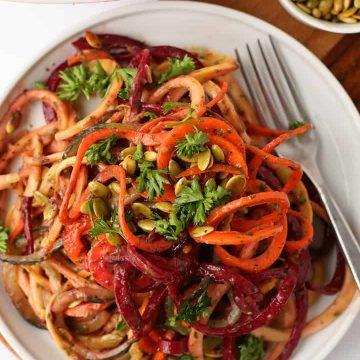 Spiralized Vegetable Salad