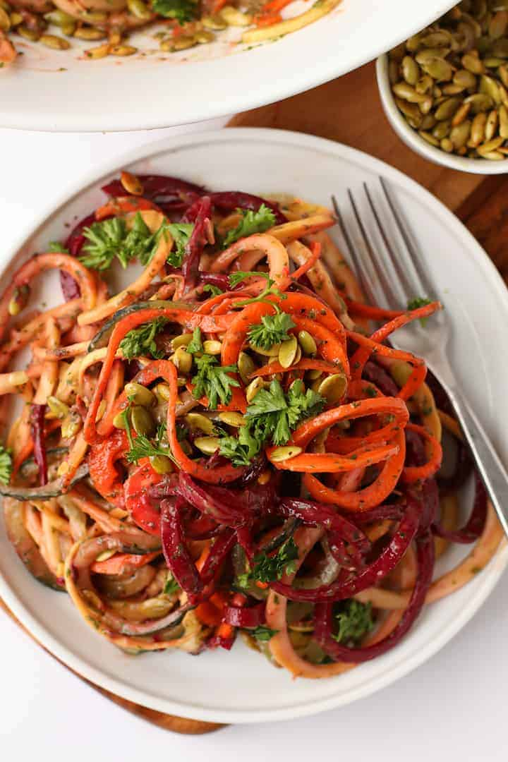 Spiralized Vegetable Salad