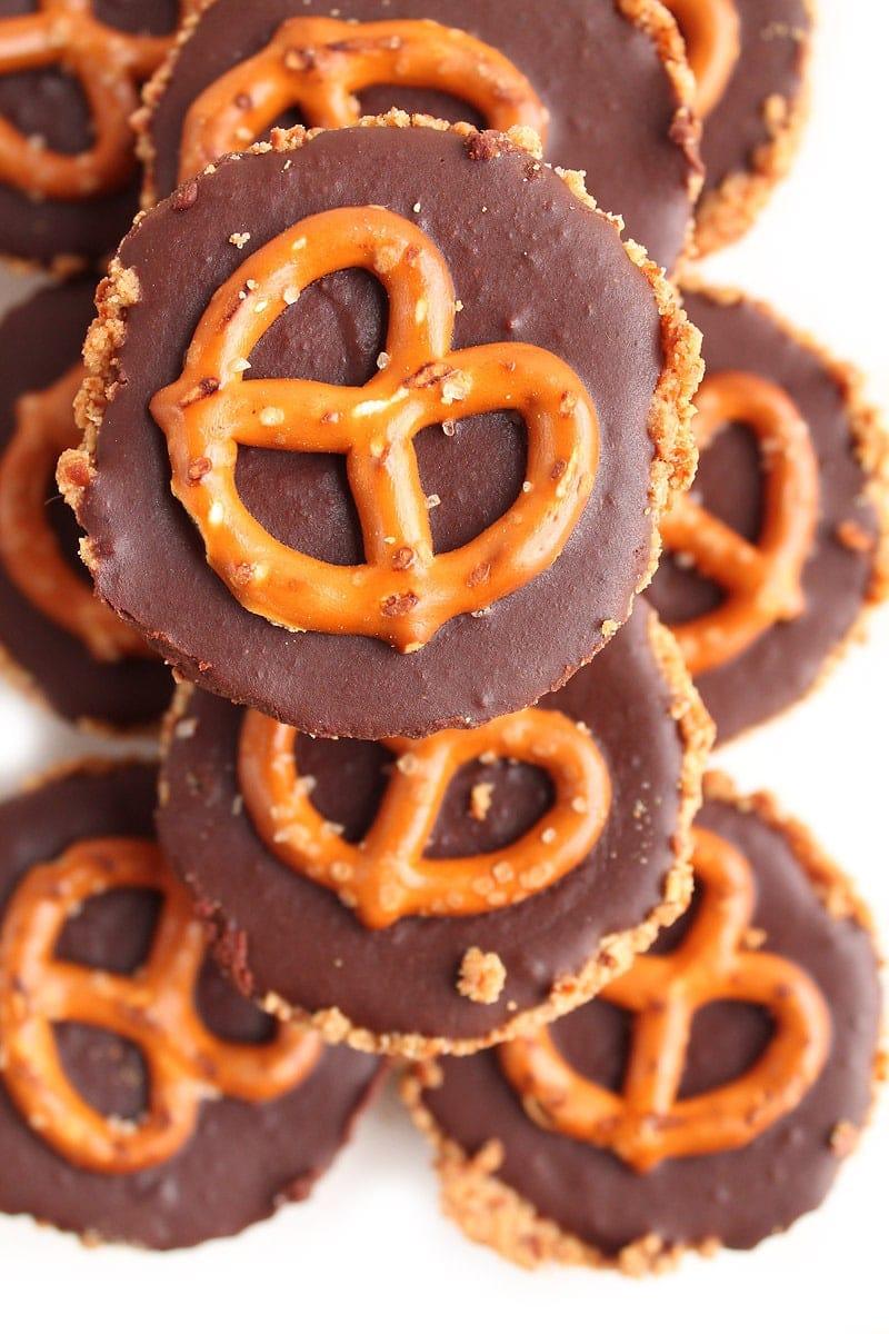 Chocolate Pretzel Tarts