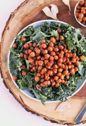 Kale Salad with Bacon-Flavored Chickpeas