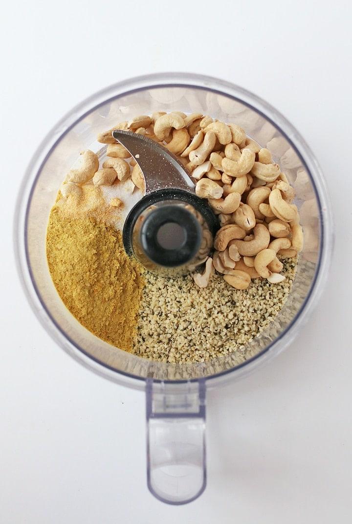 Vegan Parmesan Cheese in food processor