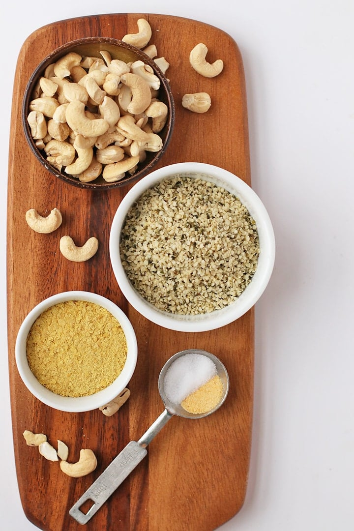 Ingredients for Vegan Parmesan Cheese