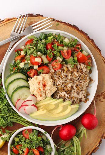 Mediterranean Lentils and Rice