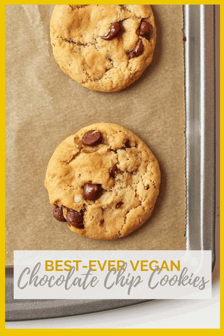 These Classic Vegan Chocolate Chip Cookies are just how a cookie should be - chewy, sweet, and filled with chocolate in every bite. You're going to love them.