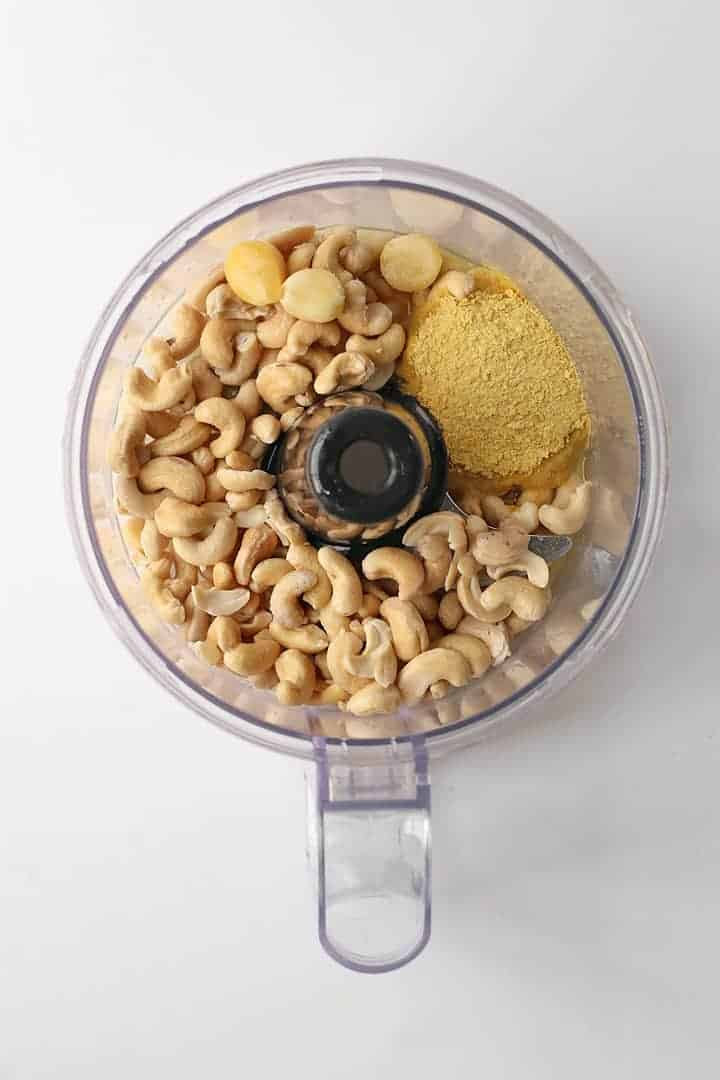Cashews in a food processor