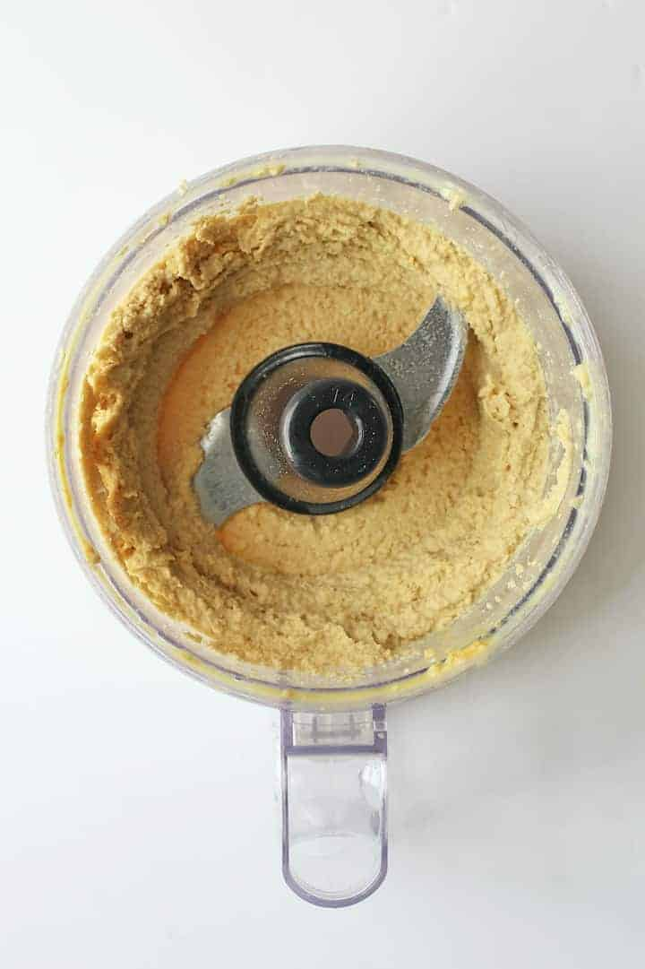 Vegan Ricotta Cheese blended in food processor