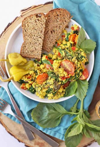 Greek Tofu Scramble (vegan & gluten-free!)