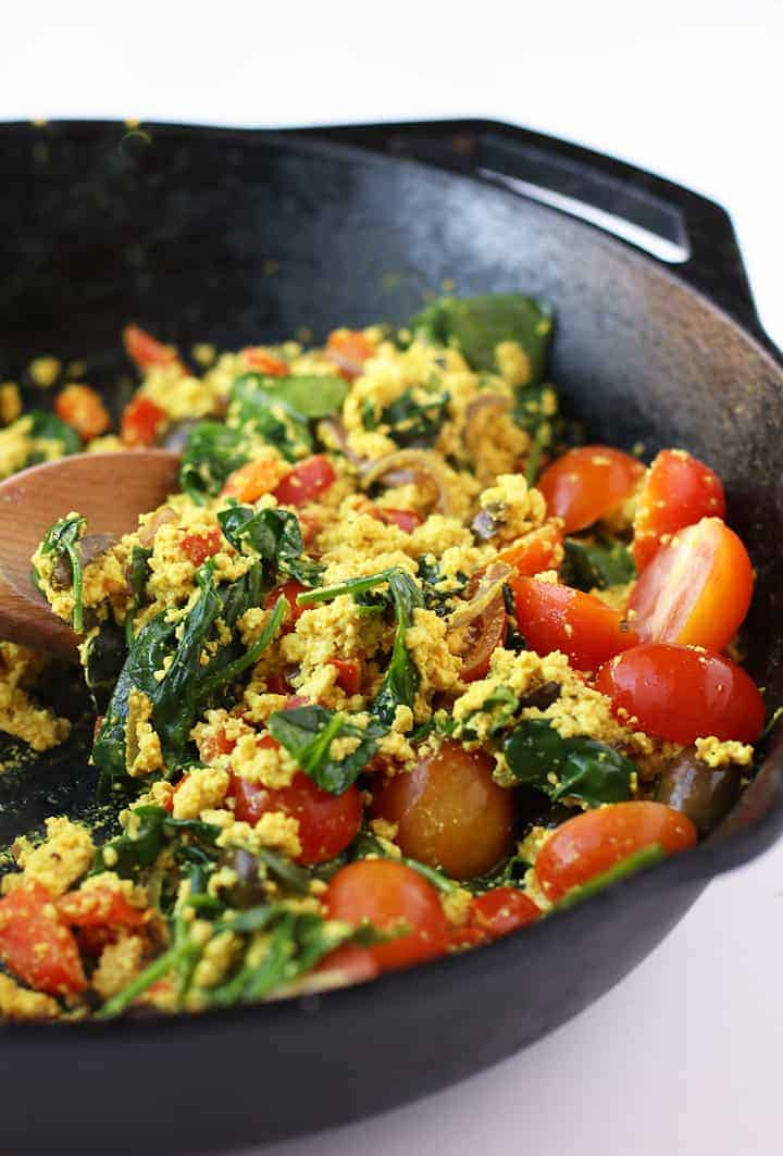 Greek Tofu Scramble