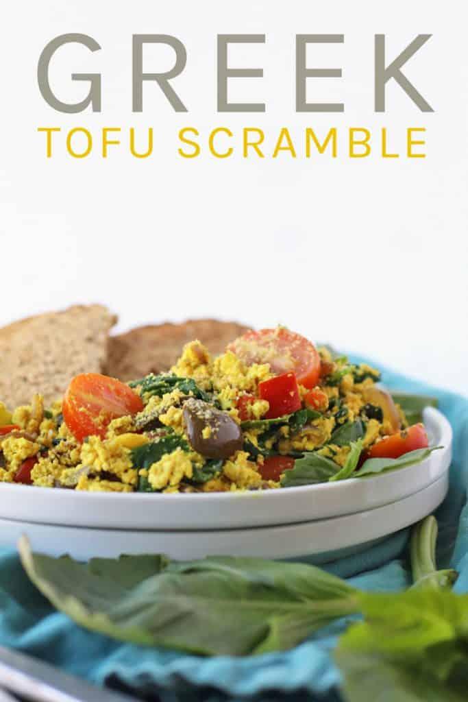 Greek Tofu Scramble