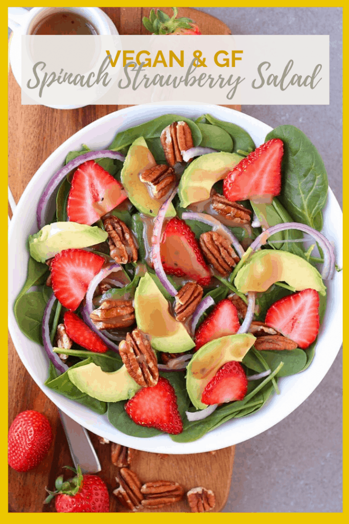 Welcome in spring with this Spinach Strawberry Salad with Balsamic Vinaigrette for a refreshing salad that celebrates the sweetness of the season.