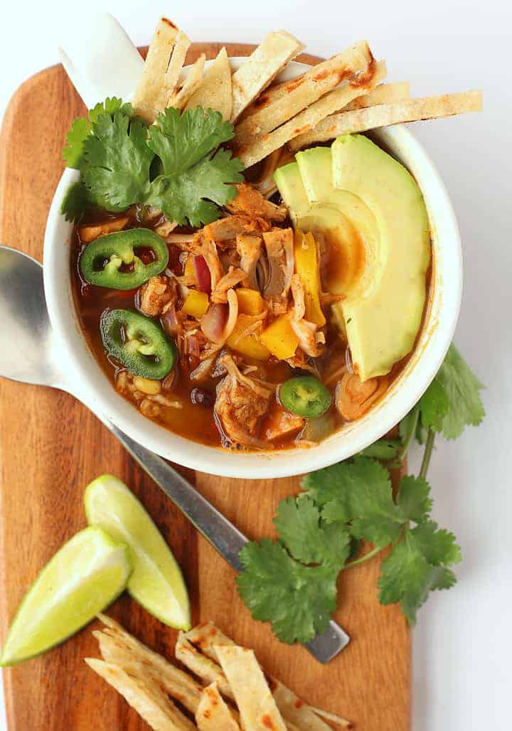 Tortilla Soup with Jackfruit