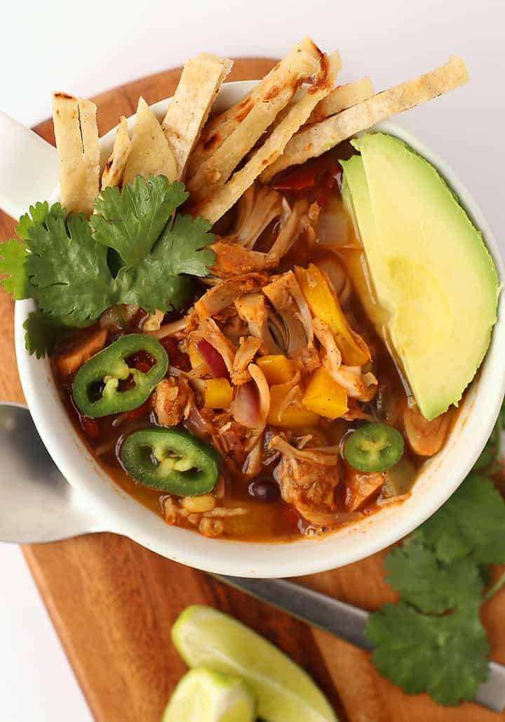 Vegan Tortilla Soup with jackfruit