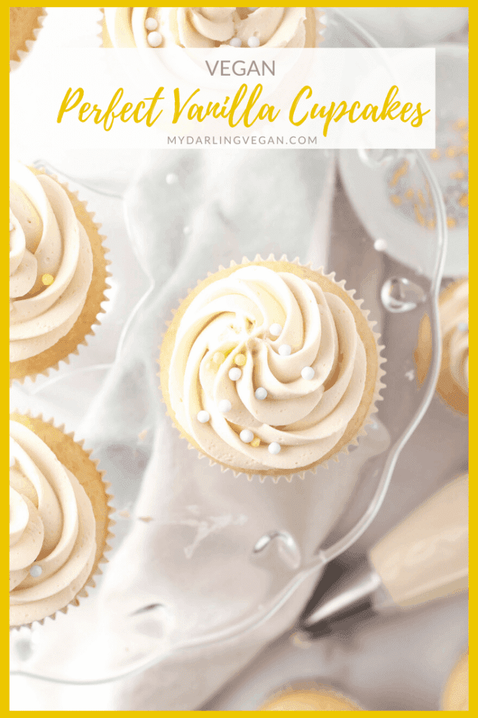 These vegan Vanilla Cupcakes are unbelievably delicate and moist with a touch of sweetness for an easy and delicious cupcake that everyone will love.