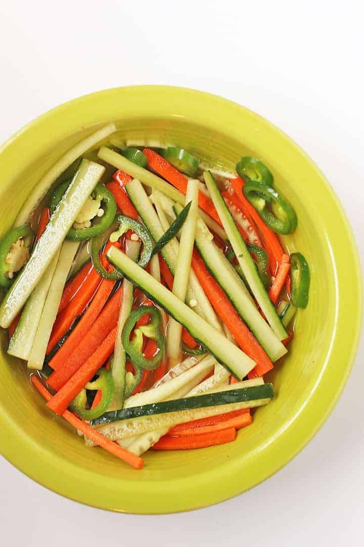 Cucumber and Carrot sticks