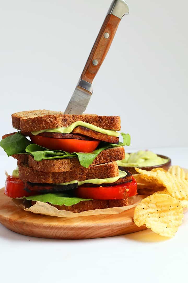 Vegan BLT with Avocado Mayo