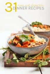 31 Vegan Gluten-Free Dinner Recipes! From curries to stews to one-pot meals, you will find a month's worth of recipes here.