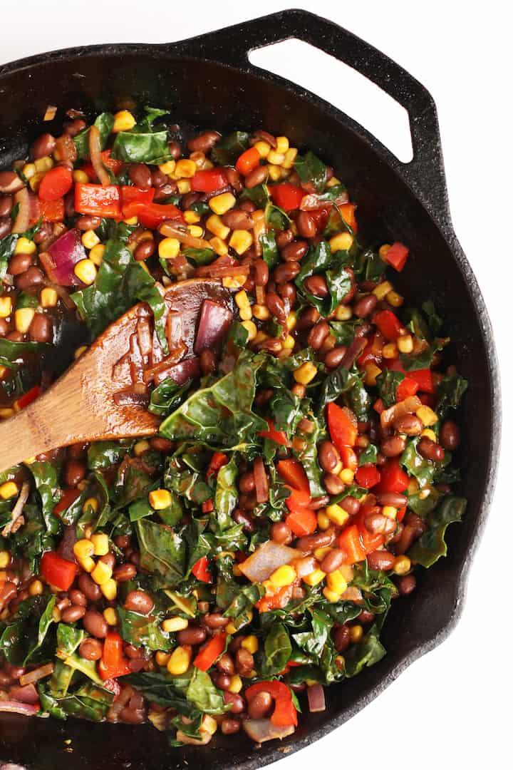 Sautéed beans and corn