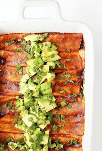 Black Bean and Kale Vegan Enchiladas