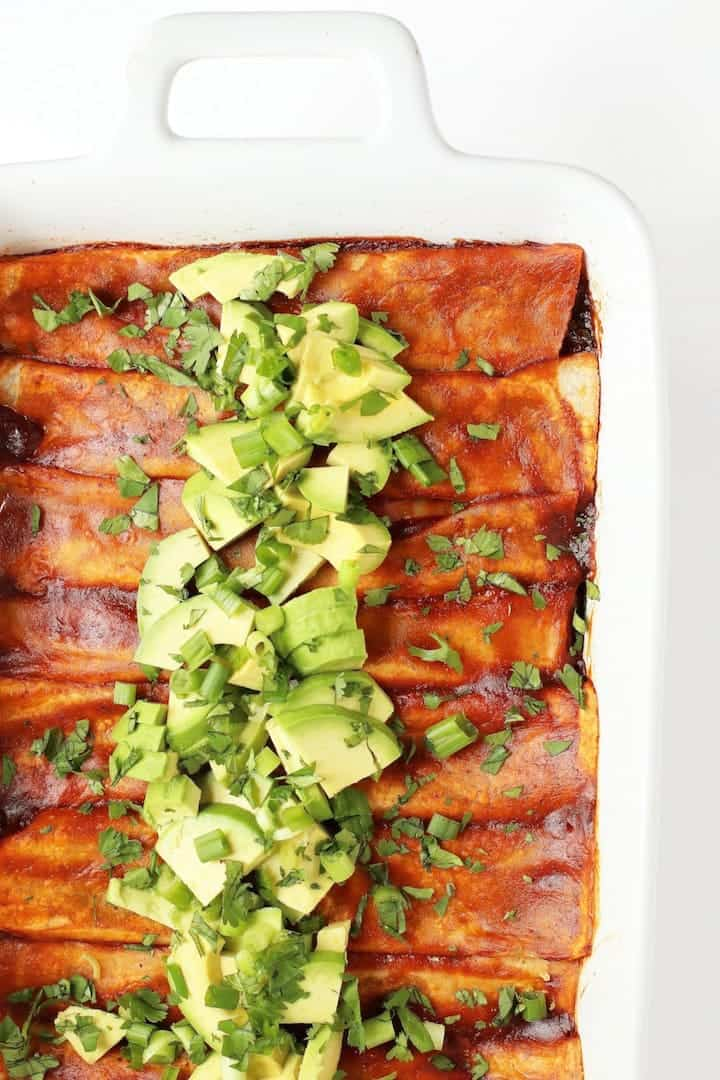 Kale and Black Bean Enchiladas
