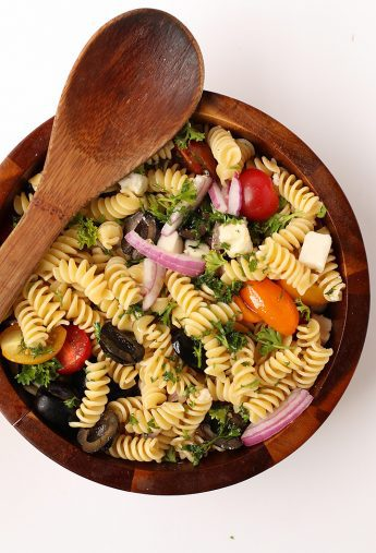 Vegan Pasta Salad with Red Wine Vinaigrette