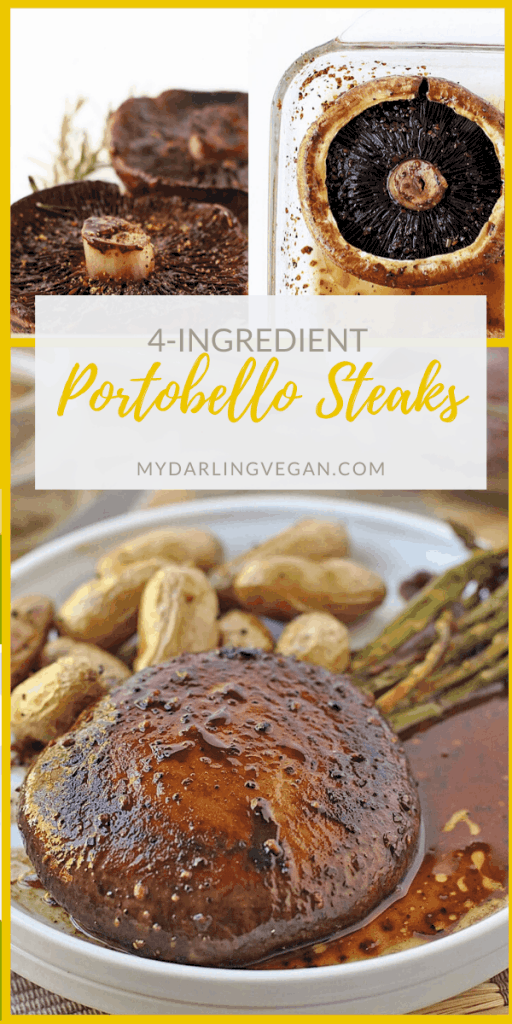 These juicy Portobello Steaks are made with just 4 ingredients in just 30 minutes for a delicious and wholesome plant-based meal that will satisfy your cravings.