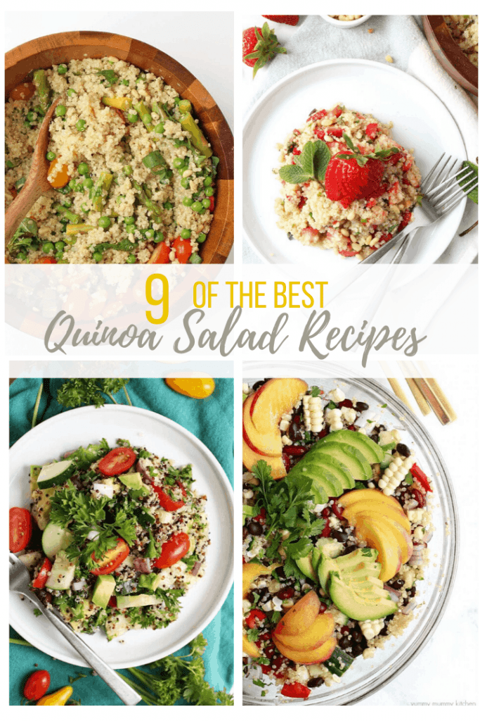 Enjoy these quick and simple vegan quinoa salads for a hearty and wholesome meal or side dish. From Southwest to Thai Peanut, there is a quinoa salad recipe for everyone.