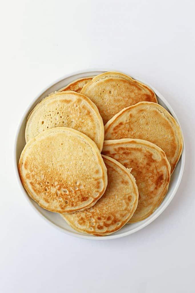 Plate of vegan pancakes