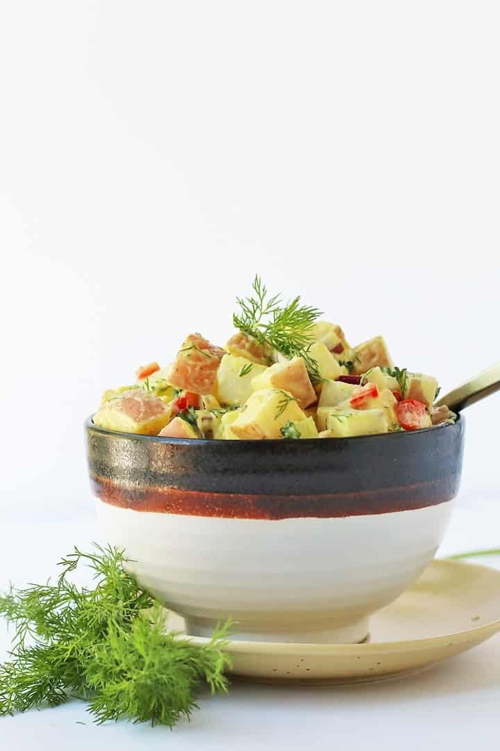 Vegan Potato Salad in a bowl